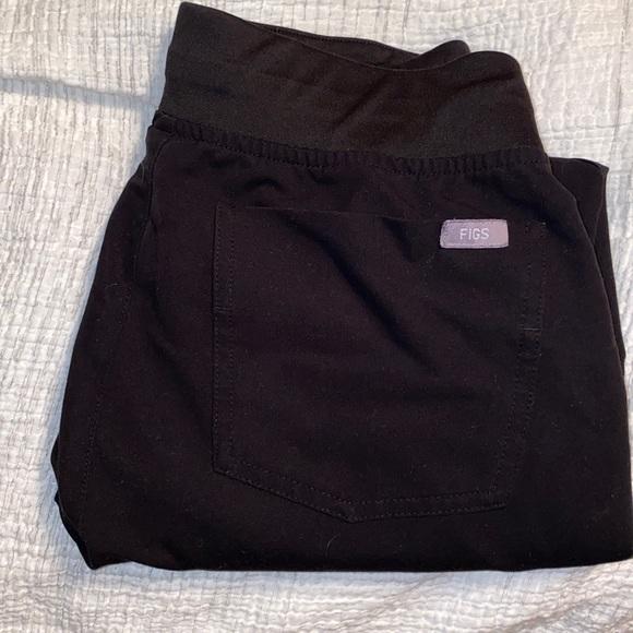 FIGS Black XSMALL Petite Zamora Scrub jogger pants